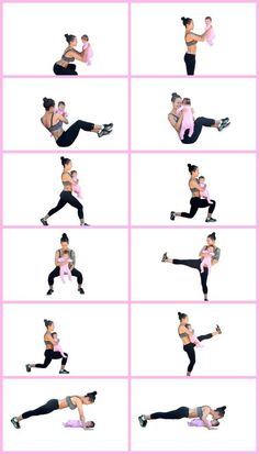 Fitness Motivation : Description 20 minute mommy and baby home workout Postpartu. - Fitness Motivation : Description 20 minute mommy and baby home workout Postpartu. Yoga Fitness, Fitness Workouts, Fitness Diary, Fitness Motivation, Fun Workouts, At Home Workouts, Health Fitness, Workout Routines, Health Club