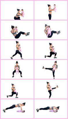 Tips på träningspass med bebis eller vikt