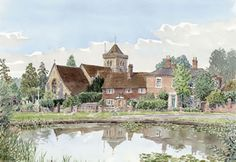 Church & Pond At Chiddingfold Surrey - Church Art by John Lynch