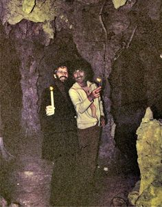 George and Ringo exploring the caves under neath the grounds