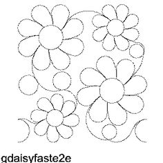 MSQC designs for their longarm quilting choices G'Daisy Free Machine Quilting Pattern