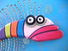 Fish Wall Art Rainbow Trout Original Found Object von FigJamStudio