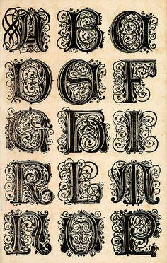(Alemania, s.XVII) Paul Frank. Diseño matriz de rizografía donde se inscriben letas.