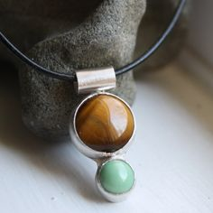 Tiger's Eye and Variscite Necklace