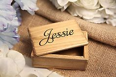 Small Wooden Trinket Jewelry Box - Personalized Engraved Gift