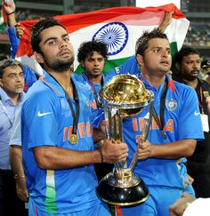 The Young Turks With The Trophy 2011 Cricket World Cup Cricket World Cup India Cricket Team
