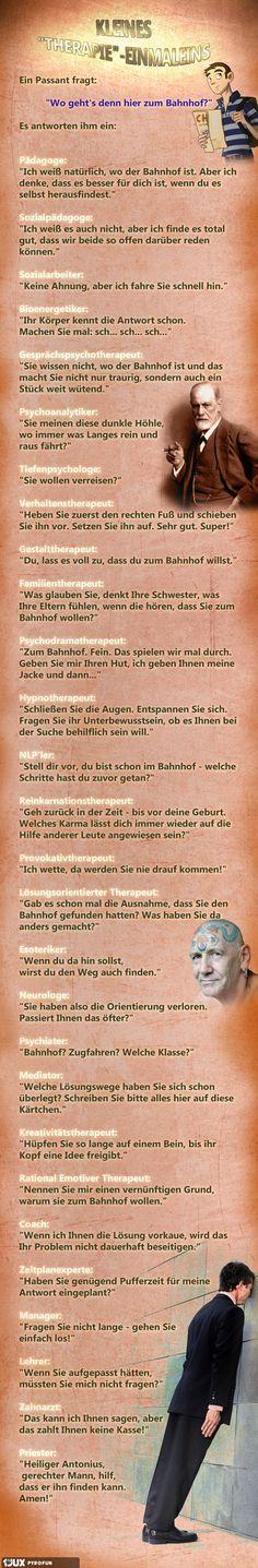 So schön Deutsch - die Woche kann nur besser werden - obwohl wenn eine Woche schon mit MONTAG anfängt....... (Kleines Therapie-Einmaleins)