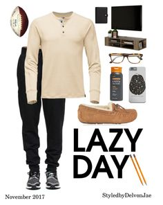 """Lazy Days"" by delvonjae ❤ liked on Polyvore featuring UGG, South Shore, Etro, men's fashion and menswear"