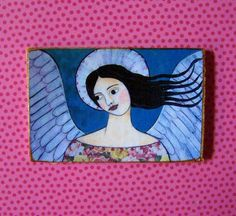 Folk Art Angel Magnet by Debidoodah on Etsy, $4.00