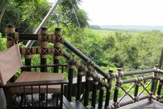 """A little corner from your own #luxury #tent, where you can enjoy a marvelous view of #Burma #mountains and #greenery while sipping a glass of your favourite drinks!    """"Like"""" this photo if you wish you were here at Four Seasons Tented Camp Golden Triangle, #Thailand! #FSTentedCamp"""