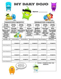 Image result for weekly point sheet for food for kids