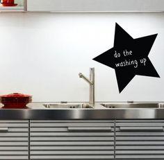 Chalkboard wall sticker star kitchen blackboard