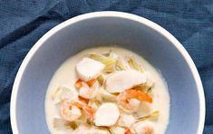 En cremet fiskesuppe med et hint af hvidvin - den skal nok blive et hit.