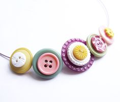 Vintage Button Necklace  £14.00