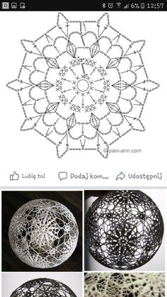 Witam:) To co wczoraj zobaczyłam na swojej tablicy na FB S - SalvabraniHanne Fagerås's media content and analytics Crochet Snowflake Pattern, Crochet Motifs, Crochet Snowflakes, Crochet Diagram, Free Crochet, Crochet Christmas Ornaments, Christmas Crochet Patterns, Handmade Ornaments, Christmas Crafts