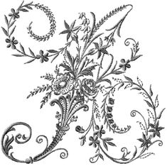 Victorian Whitework Font 26 Machine Embroidery Letters for hoop Embroidery Alphabet, Embroidery Monogram, Silk Ribbon Embroidery, Embroidery Fonts, Cross Stitch Embroidery, Hand Embroidery, Cross Stitch Patterns, Floral Letters, Free Machine Embroidery Designs