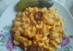 Krumplis nokedli | Erzsi receptje - Cookpad receptek Risotto, Macaroni And Cheese, Food And Drink, Tasty, Baking, Ethnic Recipes, Kitchen, Hungarian Recipes, Mac And Cheese