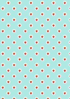 Free digital strawberry scrapbooking paper - ausdruckbares Geschenkpapier - freebie | MeinLilaPark – DIY printables and downloads