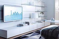 Besta storage unit & Framsta white wall tv unit - would prefer floating storage unit underneath