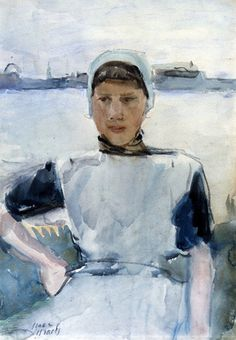 Isaac Israels ~ Posing girl from Zeeland