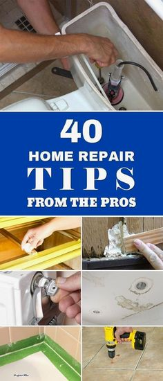 From filling holes and patching walls to fixing water leaks, here's a list of 40 home repair tips from the pros that can help you repair the most common household problems. home maintenance 40 Home Repair Tips From The Pros Home Renovation, Home Remodeling, Home Improvement Loans, Home Improvement Projects, Home Improvements, Do It Yourself Home, Improve Yourself, Diy Home Repair, Home Repairs