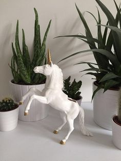 This listing is for one up cycled Unicorn planter. It measures 22cm from head to tail and 12.5cm from head to toe. Succulent will be chosen at random when potting.  Please note that if you are buying from outside of the United Kingdom, I cannot send the plant due to customs regulations, so you will only receive the planter pictured   Each of my Animals have been primed, had multiple layers of spray paint and finally sealed. Horn is hand painted and finished. The plants are very easy to c...