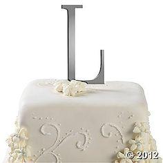 """L"" cake topper"