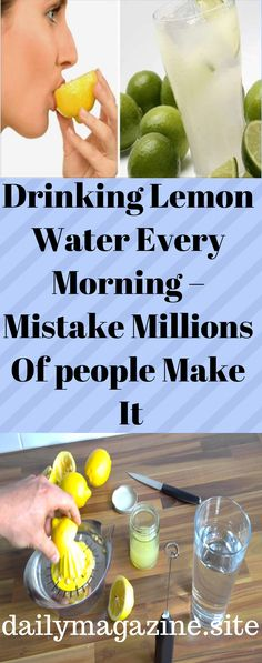 Drinking Lemon Water Every Morning – Mistake Millions Of people Make It - Daily Magazine Vitamin C Drinks, Healthy Tips, Healthy Recipes, Drinking Lemon Water, Infused Water Recipes, Natural Medicine, Detox Drinks, Healthy Living, Good Food