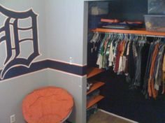 boys baseball room ideas | year old Detroit Tigers Fan, My son wanted a baseball room and our ...