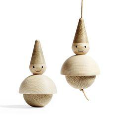Norwegian Christmas, Danish Christmas, Plaid Christmas, Natural Christmas Ornaments, Holiday Ornaments, Scandinavian Christmas Decorations, Xmas Decorations, Wooden Tree, Wooden Decor