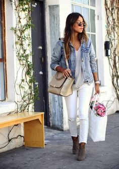 Street Style // BEST WHITE JEANS FOR WINTER