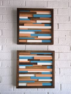 Distressed Wood Wall Decor distressed abstract wood wall art - tropical wood wall art