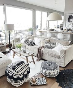 Remodelaholic Modern Coastal Bedroom Decor Tips . 25 Cozy And Minimalist Scandinavian Kitchen Ideas Home . Home and Family Rooms Home Decor, Living Room Decor, Bedroom Decor, Wall Decor, Deco Boheme Chic, Deco Zen, Living Room Lighting, White Furniture, Eclectic Decor
