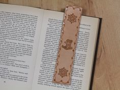 Anchor Bookmark Deluxe Leather Marker Ships by TinasLeatherCrafts. Repin To Remember.