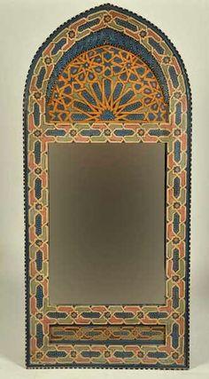 Moorish style mirror - Moroccan decor - love it!