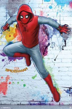 This Marvel Spider-Man: Homecoming - Homemade poster will always save the day. This poster, part of the Spider-Man: Homecoming collection, will empower you to greatness. Marvel Comics, Marvel Art, Marvel Heroes, Amazing Spiderman, Spiderman Art, Homemade Posters, Homecoming Posters, Pinturas Disney, Chur