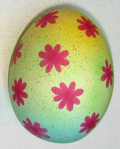 Easter eggs with an airbrush. The possibilities are endless.