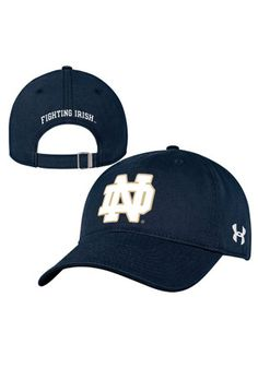 Under Armour Notre Dame Fighting Irish Navy Blue Relaxed Cotton Adjustable Hat