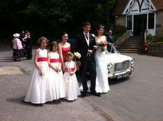 1963 stretched Mini limousine wedding car Ivory Paint, Wedding Car, Bridesmaid Dresses, Wedding Dresses, Mini, Fashion, Bride Maid Dresses, Bride Gowns, Moda