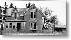 Black And White Demise Metal Print by Bonfire #Photography