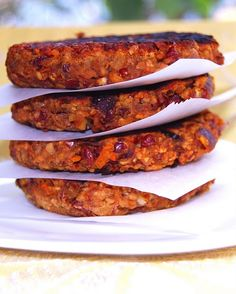 These actually look like yummy bottom to an open face chicken or beef burger. (Bean and oat burgers.)