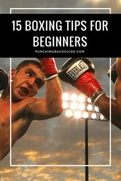 15 Boxing Tips for Beginners to Be a Better Fighter is part of fitness - Do you want to start boxing Check out these important technique and training tips for beginners to get better results faster Boxing Workout With Bag, Boxing Workout Routine, Boxing Basics, Punching Bag Workout, Boxing Training Workout, Mma Workout, Kickboxing Workout, Training Tips, Workout Plans