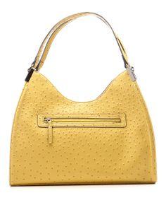 Yellow Ostrich Irene Shoulder Bag   emilie m.