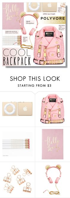 """""""I SAID YES"""" by larissa-takahassi ❤ liked on Polyvore featuring Moschino, H&M, lovely and backpack"""
