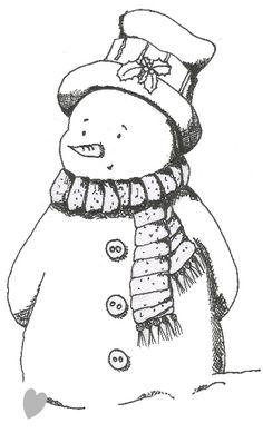 FREE snowman digi: