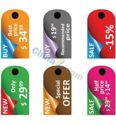SALE tag vector design template