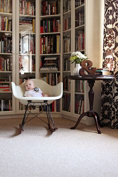 Another great perspective on the (updated) library nook from Making It Lovely. Also a wonderful backdrop for photos!