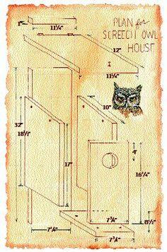 owl house   Owl box: Birding blog: Building a Screech Owl Box