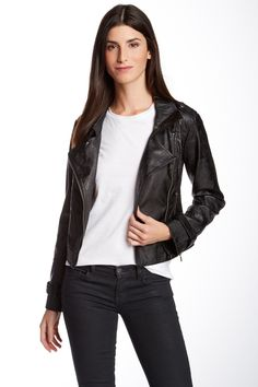 Blanc Noir Faux Leather Motor Jacket by Blanc Noir on @nordstrom_rack $49.97 $120.00 58% Off