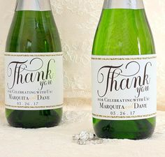 Wedding Mini Champagne Bottle Labels - Wedding Mini Wine Labels - Gold Wedding Favors for Guests - Wedding Guest Favors - Thank You Gift Mini Champagne Bottles, Mini Wine Bottles, Champagne Label, Gold Wedding Favors, Wedding Labels, Wedding Favors For Guests, Wedding Ideas, Bottle Labels, Wine Labels